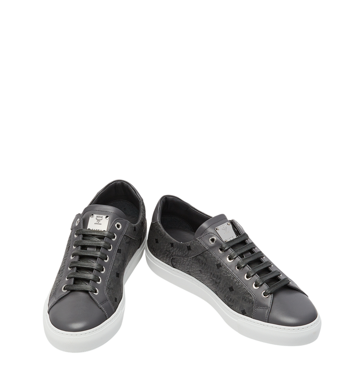 MCM Men's Low Top Sneakers in Visetos AlternateView4