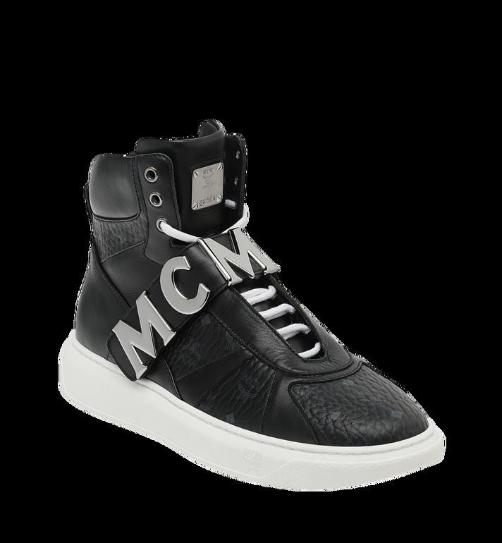 MCM Men's High Top MCM Letter Sneakers in Visetos AlternateView