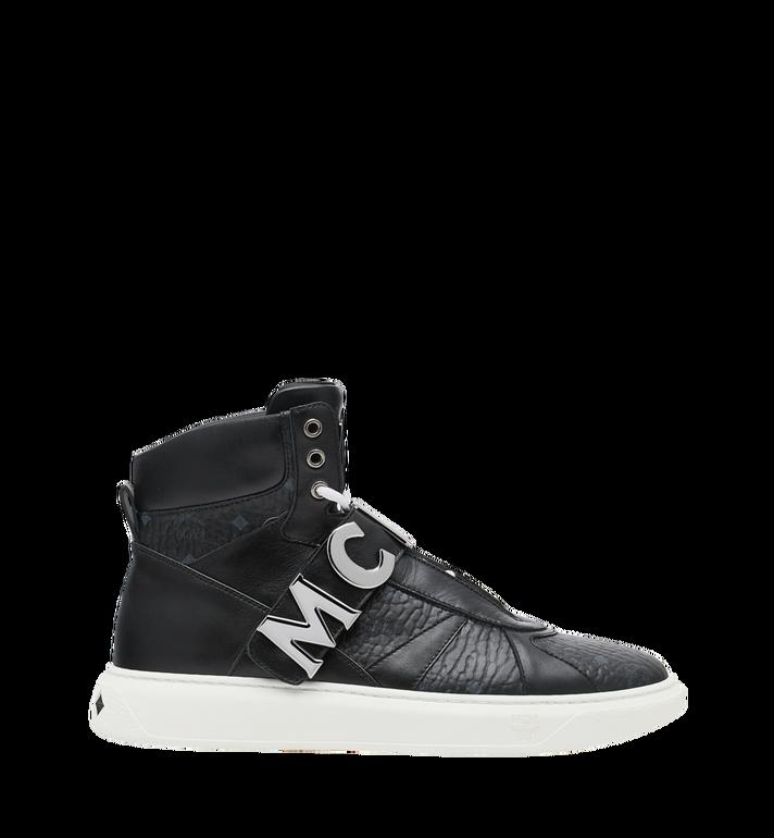 MCM Men's High Top MCM Letter Sneakers in Visetos AlternateView2