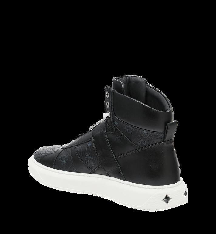 MCM Men's High Top MCM Letter Sneakers in Visetos AlternateView3