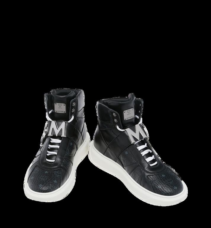 MCM Men's High Top MCM Letter Sneakers in Visetos AlternateView4