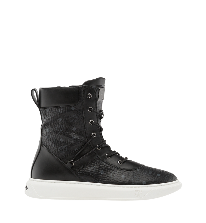 MCM Men's Lace Up Boots in Visetos Alternate View 2