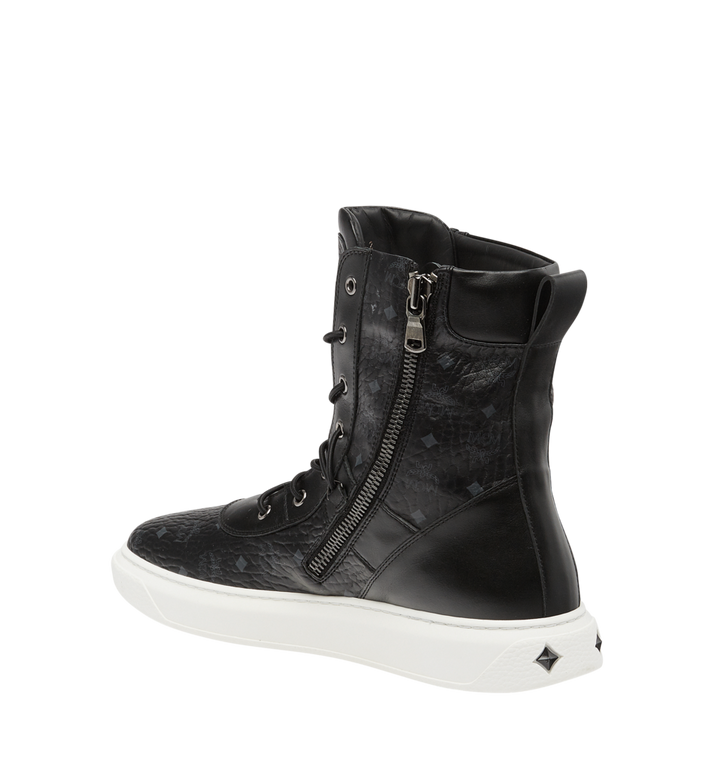 MCM Men's Lace Up Boots in Visetos Alternate View 3