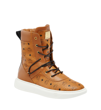 MCM Men's Lace Up Boots in Visetos AlternateView