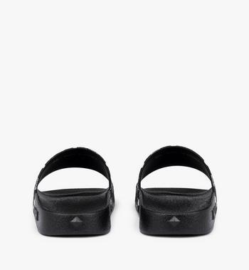 MCM Men's Monogram Print Rubber Slides AlternateView3