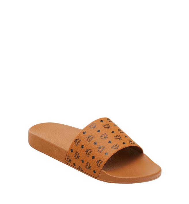 Mcm Slippers Men's Monogram Print Rubber Slides