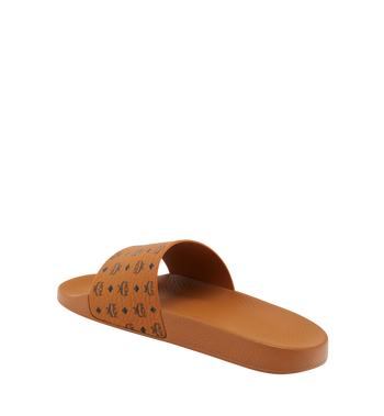 MCM Men's Monogram Print Rubber Slides MEX8AMM60CO041 AlternateView3
