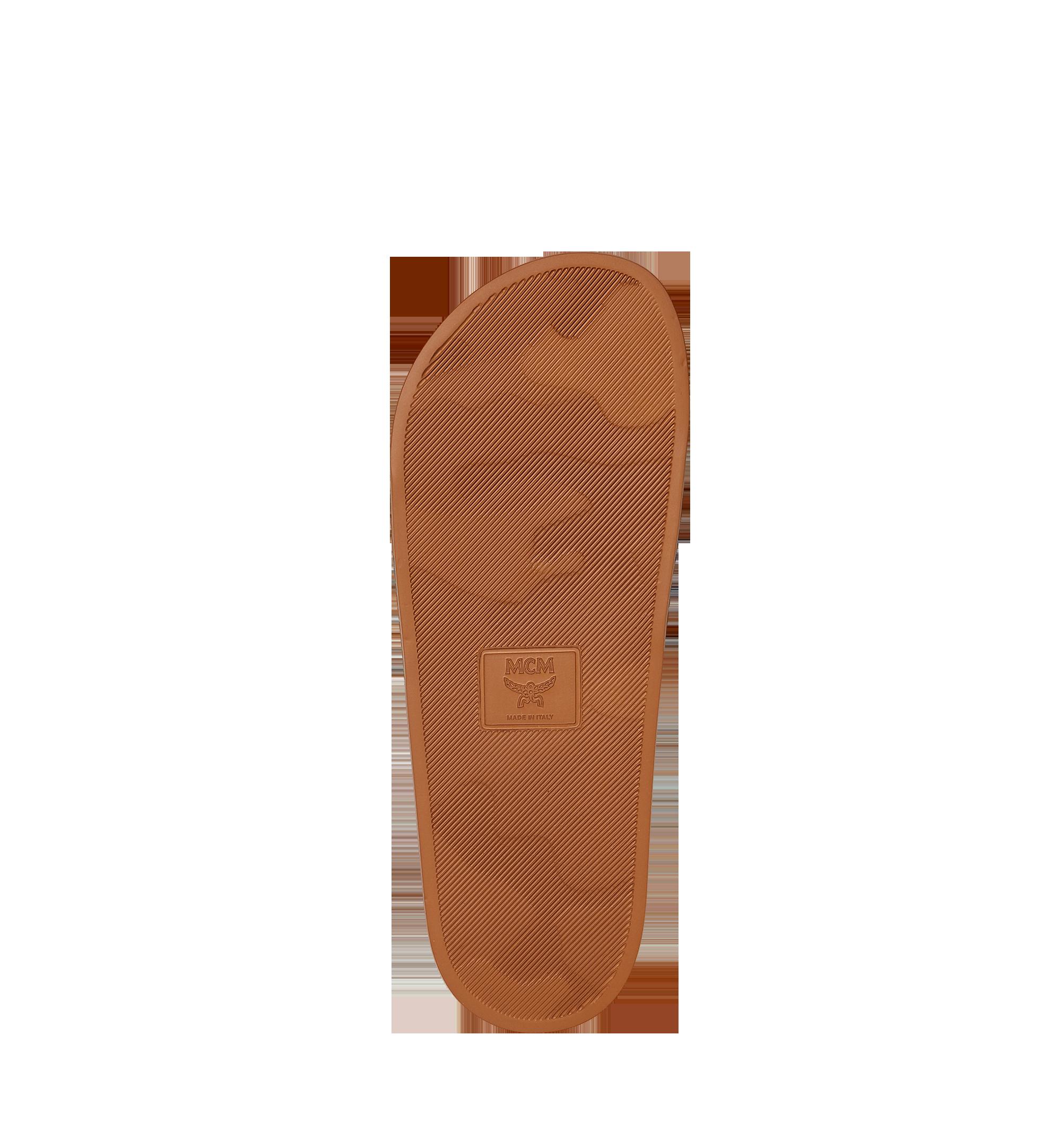 MCM Men's Visetos Rubber Slides Cognac MEX8AMM60CO041 Alternate View 4