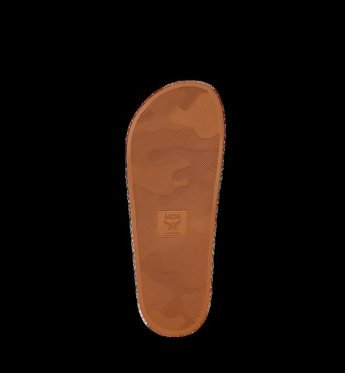 MCM Claquettes en caoutchouc monogrammé pour homme Cognac MEX8AMM60CO041 Alternate View 5