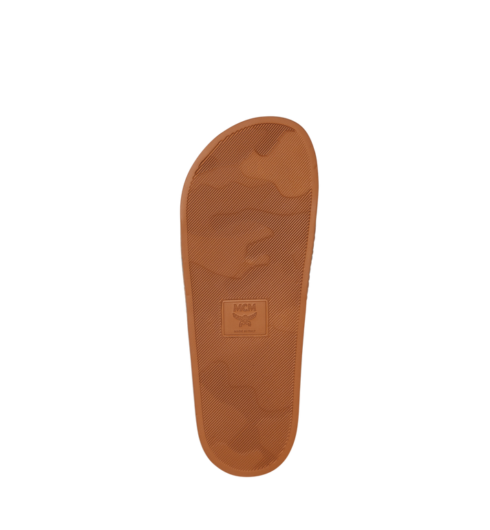 MCM Herren-Slider aus Gummi mit Monogramm-Print Cognac MEX8AMM60CO041 Alternate View 5