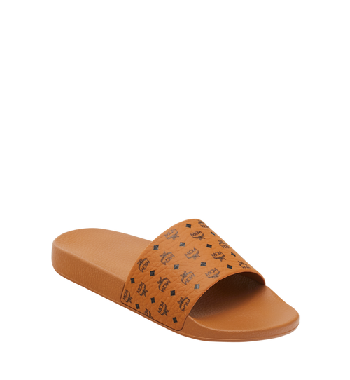 Men's Monogram Print Rubber Slides