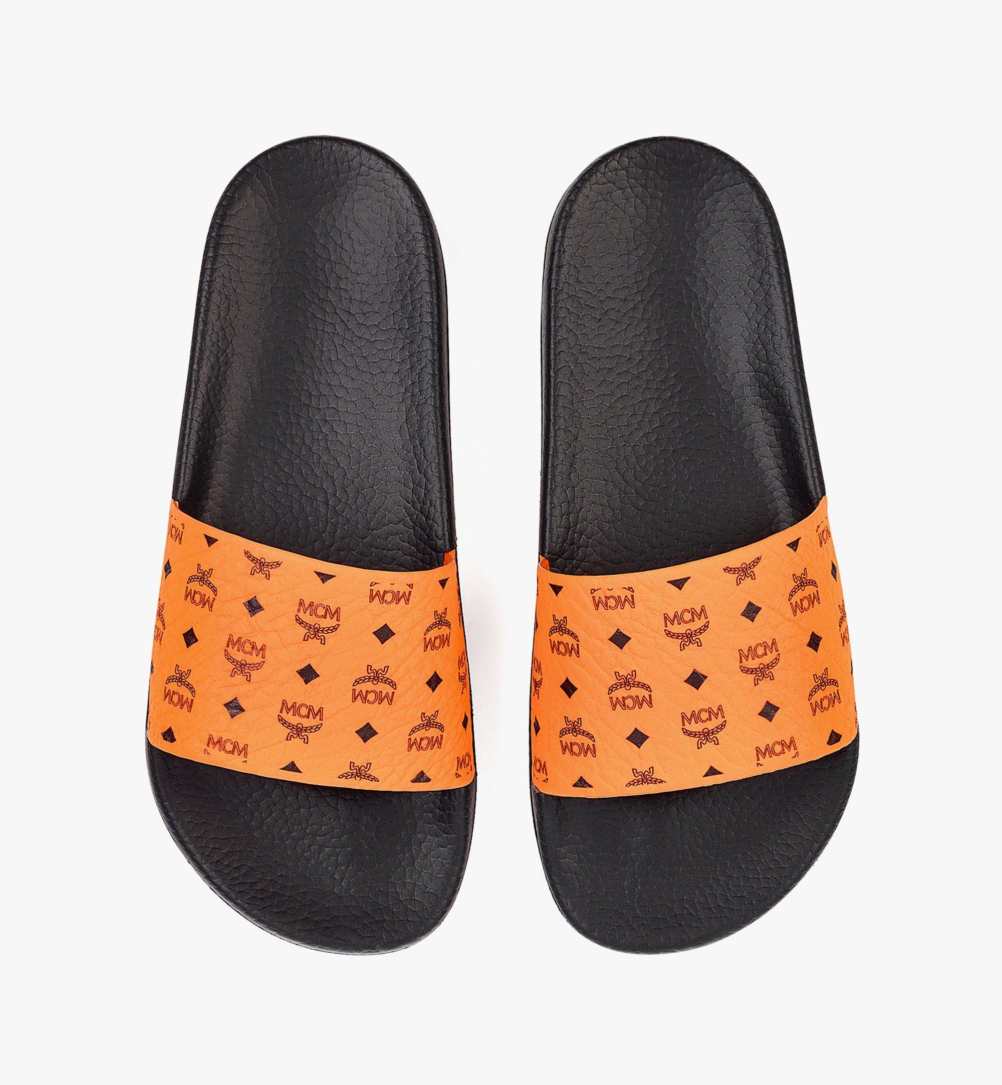 MCM 남성용 비세토스 러버 슬라이드 Orange MEX8AMM60O9041 다른 각도 보기 5