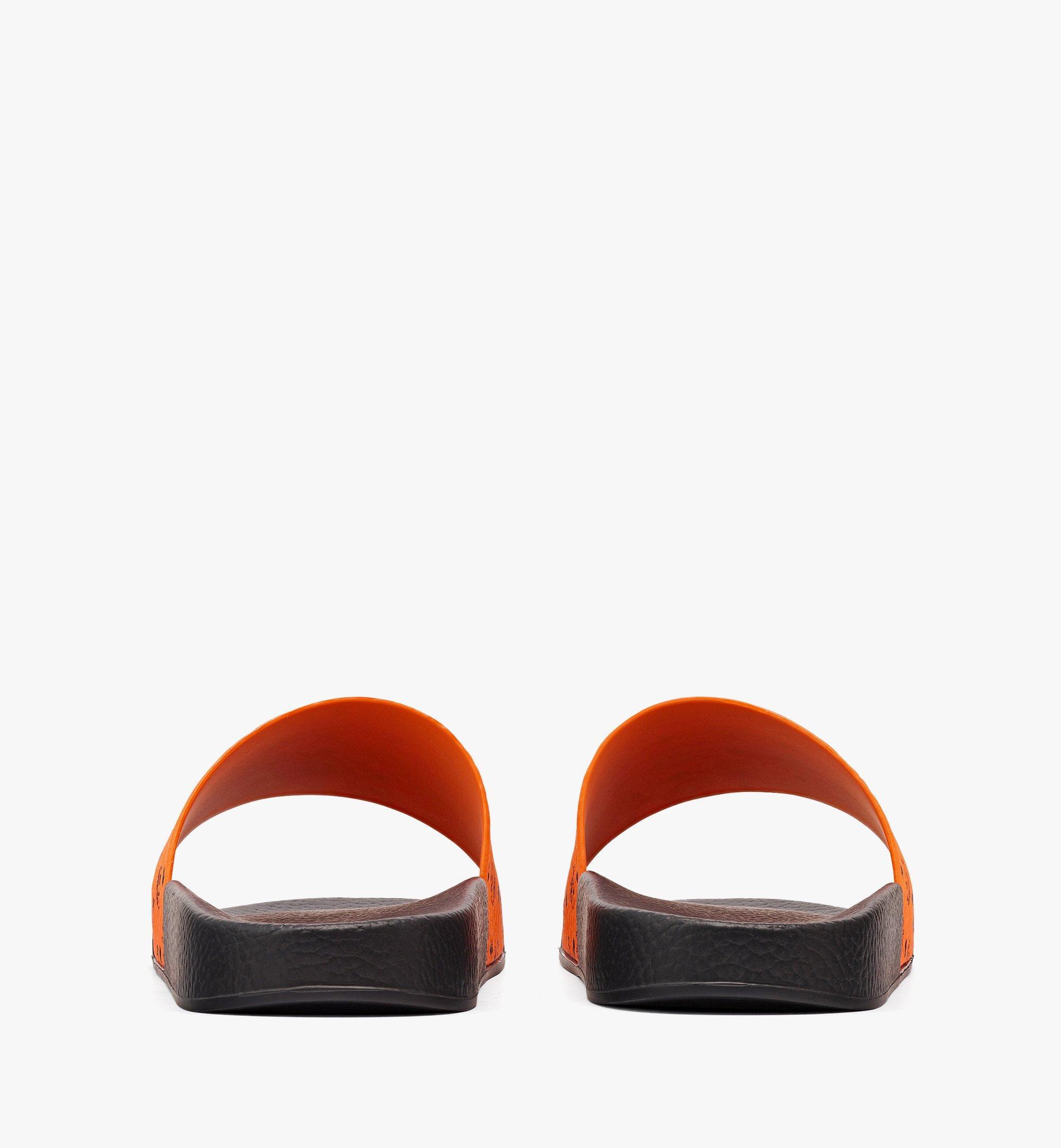 MCM Men's Visetos Rubber Slides Orange MEX8AMM60O9045 Alternate View 2