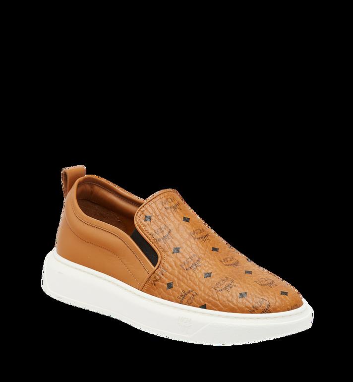 MCM Men's Slip On Sneakers in Visetos MEX8SMM22CO042 AlternateView
