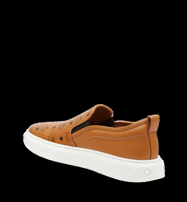 MCM Men's Slip On Sneakers in Visetos MEX8SMM22CO042 AlternateView2
