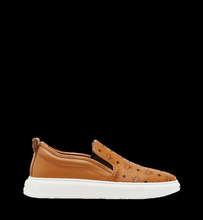 MCM Men's Slip On Sneakers in Visetos MEX8SMM22CO042 AlternateView3