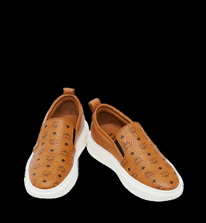 MCM Men's Slip On Sneakers in Visetos MEX8SMM22CO042 AlternateView4