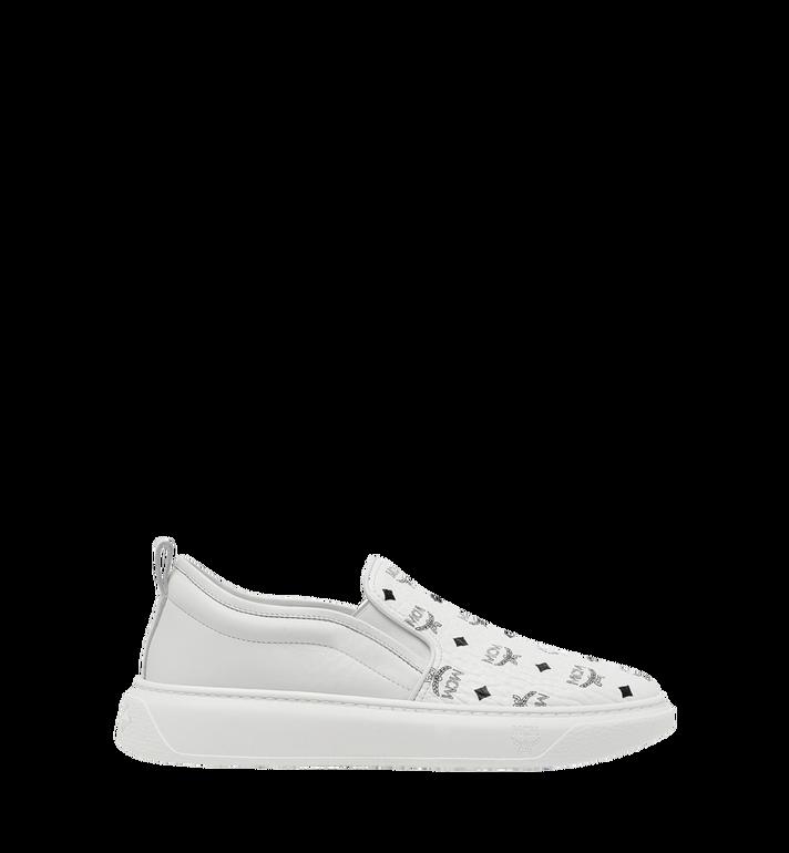 MCM Men's Slip On Sneakers in Visetos AlternateView2
