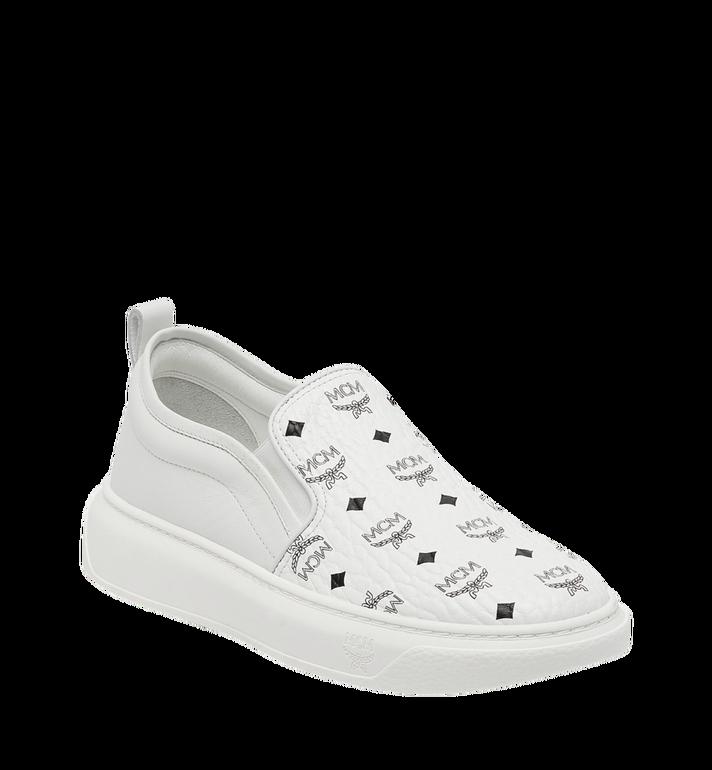 MCM Men's Slip On Sneakers in Visetos MEX8SMM22WT043 AlternateView