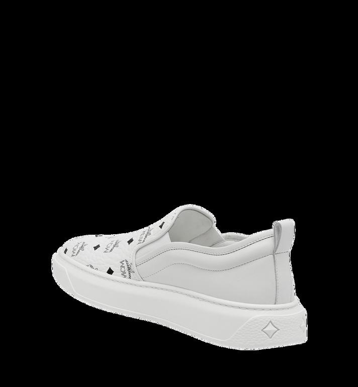 MCM Men's Slip On Sneakers in Visetos MEX8SMM22WT043 AlternateView3