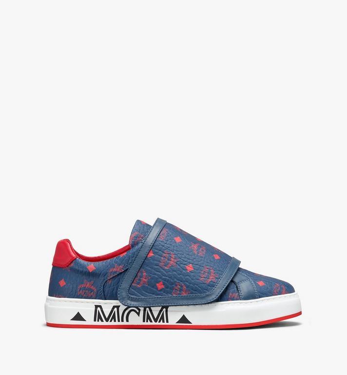 MCM Men's Milano Low-Top Sneakers Blue MEX9ADA01VS041 Alternate View 2