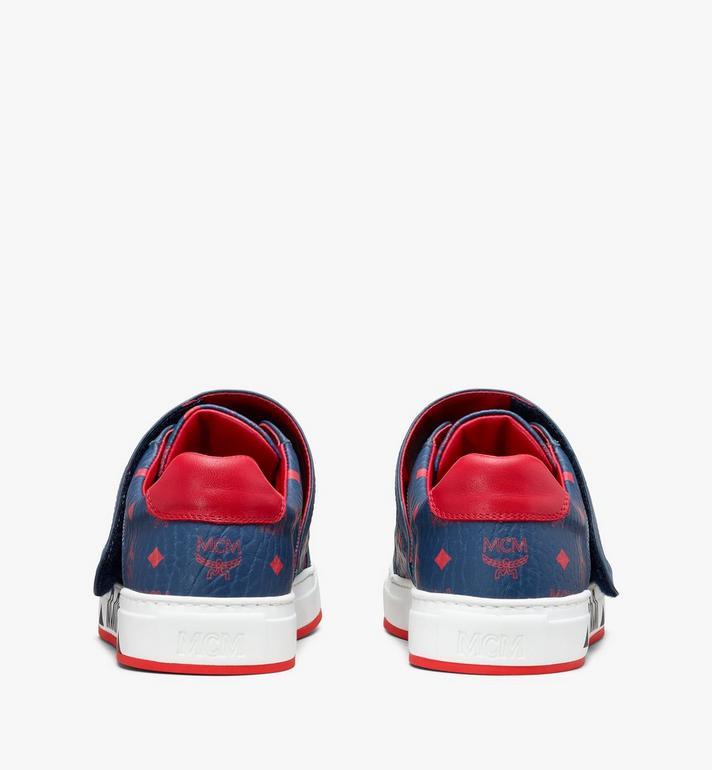 MCM Men's Milano Low-Top Sneakers Blue MEX9ADA01VS041 Alternate View 3