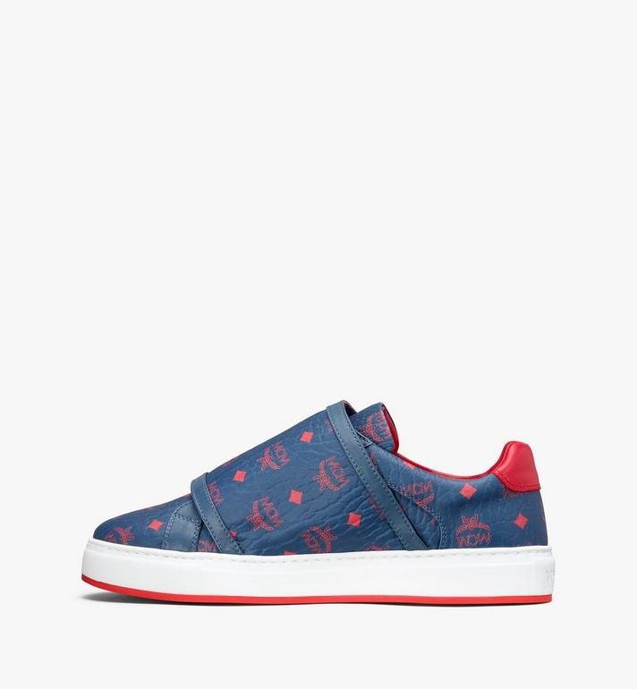 MCM Men's Milano Low-Top Sneakers Blue MEX9ADA01VS041 Alternate View 4