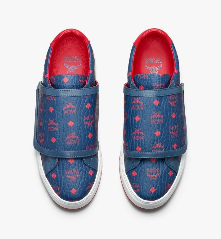 MCM Men's Milano Low-Top Sneakers Blue MEX9ADA01VS041 Alternate View 5