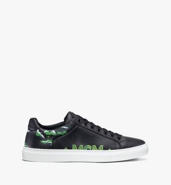 MCM Men's Milano Low-Top Sneakers Grey MEX9ADA74EC041 Alternate View 2