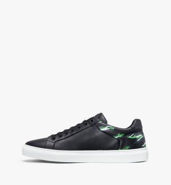 MCM Men's Milano Low-Top Sneakers Grey MEX9ADA74EC041 Alternate View 4