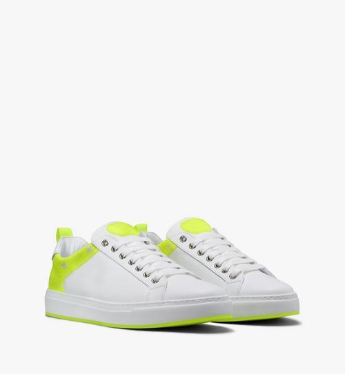 Men's Flo Low-Top Sneakers in Neon Visetos