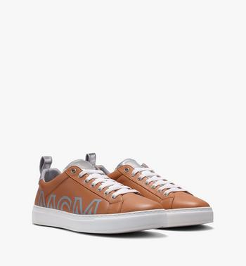 MCM Men's Low-Top Logo Sneakers in Rubberized Leather Alternate View