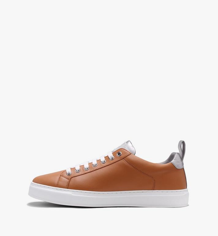 MCM Men's Low-Top Logo Sneakers in Rubberized Leather  MEX9AMM16CS043 Alternate View 4