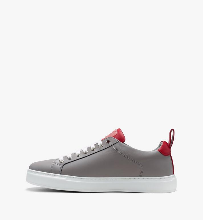 MCM Low Top Herrensneaker aus gummiertem Leder mit Logo  MEX9AMM16EG041 Alternate View 4