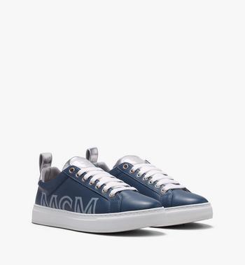 MCM Men's Low-Top Logo Sneakers in Rubberized Leather Alternate View