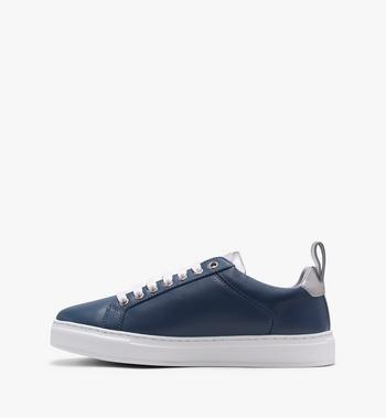 MCM Men's Low-Top Logo Sneakers in Rubberized Leather  MEX9AMM16VE043 Alternate View 4