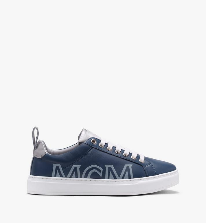 MCM Men's Low-Top Logo Sneakers in Rubberized Leather  MEX9AMM16VE044 Alternate View 2