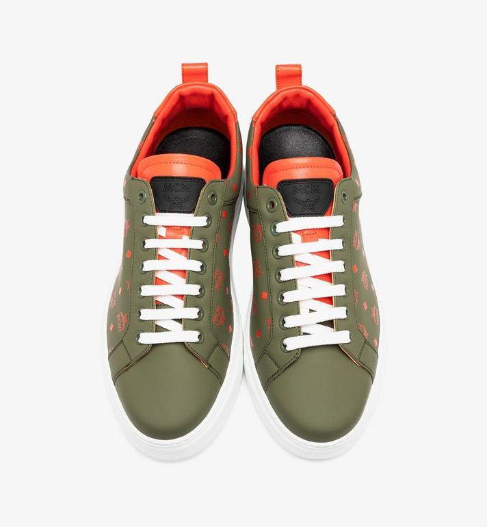 MCM Men's Low-Top Sneaker in Visetos  MEX9AMM60G8041 Alternate View 4