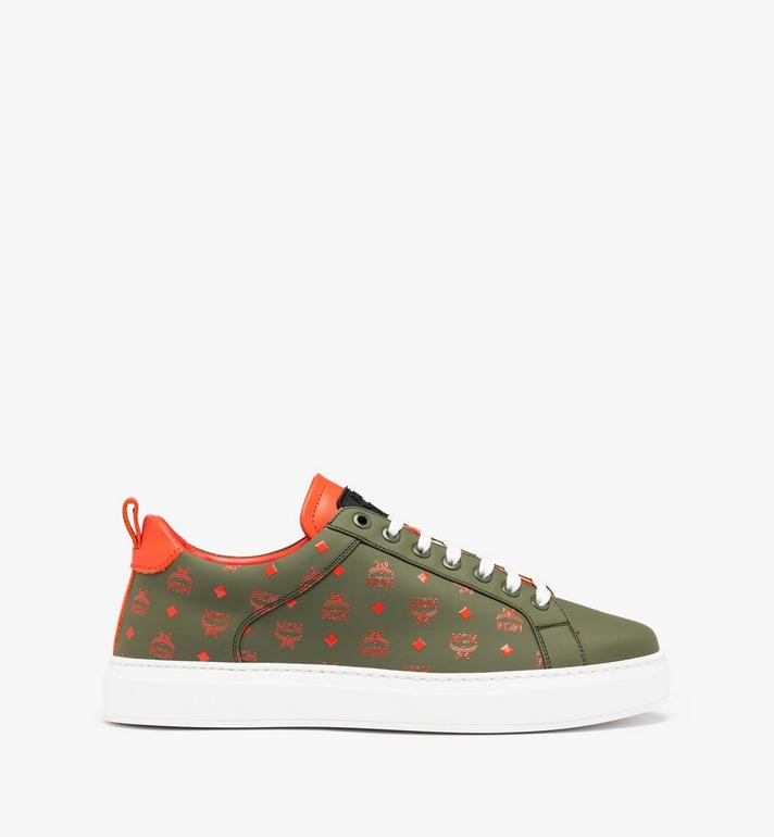 MCM Men's Low-Top Sneaker in Visetos Alternate View 2