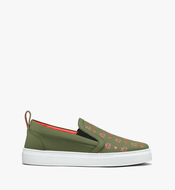 MCM Men's Slip-On Sneaker in Visetos  MEX9AMM61G8044 Alternate View 2
