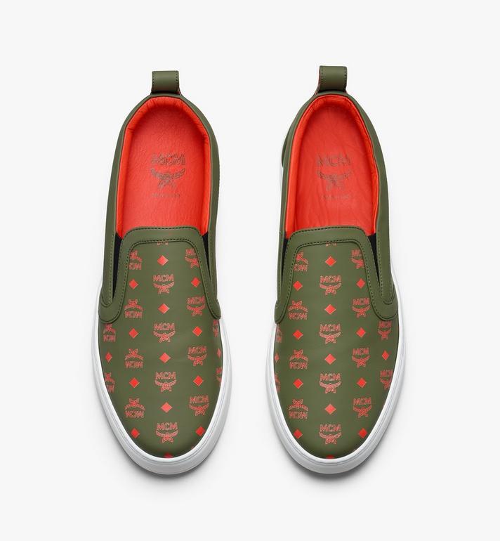 MCM Men's Slip-On Sneaker in Visetos  MEX9AMM61G8044 Alternate View 5