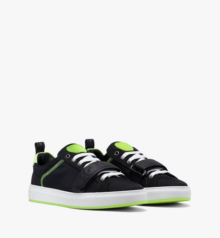 MCM Men's Low-Top Velcro Sneaker in Nylon Alternate View