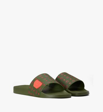 MCM Men's Monogram Rubber Slides Alternate View 1