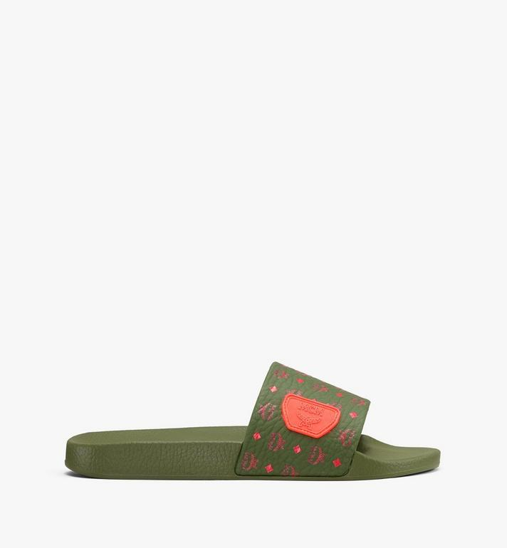MCM Men's Monogram Rubber Slides Alternate View 2