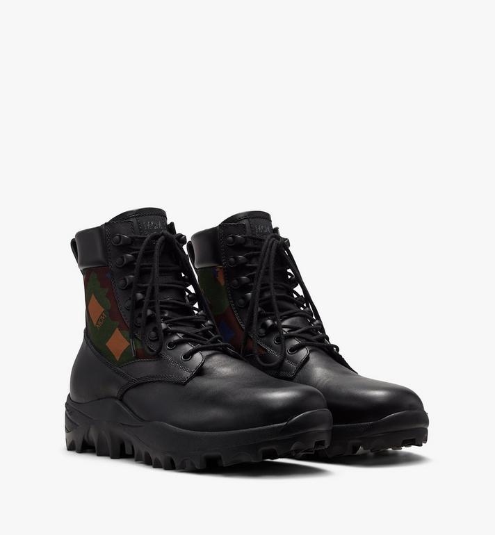 Men's Resnick Combat Boot In Nylon Camo by Mcm