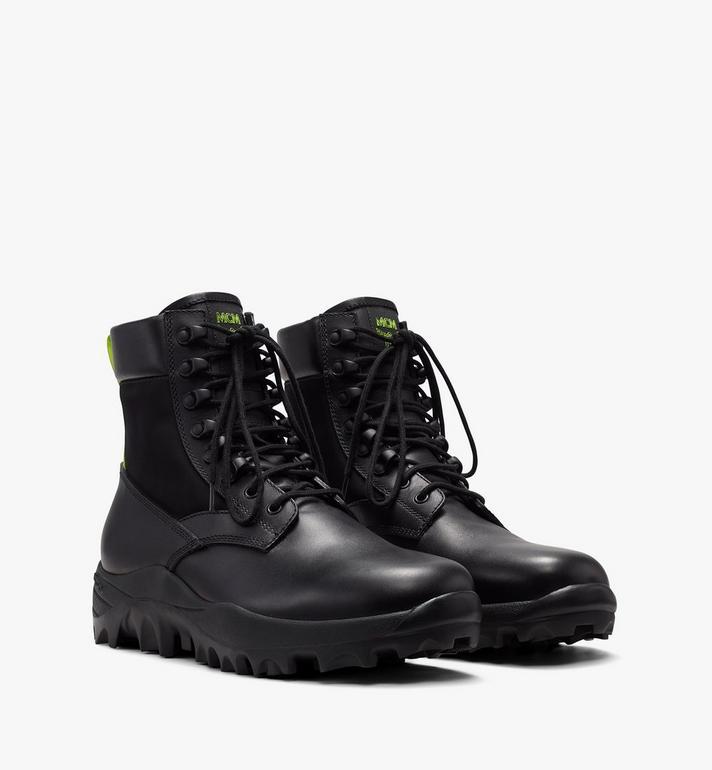 MCM Men's Contrast Trim Combat Boot in Nylon Alternate View