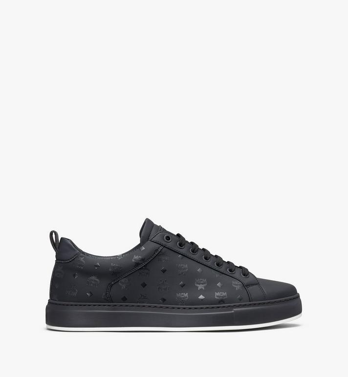 MCM Men's Low-Top Sneakers in Visetos Black MEX9AMM90BK042 Alternate View 2
