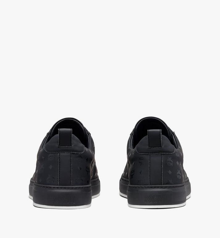 MCM Men's Low-Top Sneakers in Visetos Black MEX9AMM90BK042 Alternate View 3