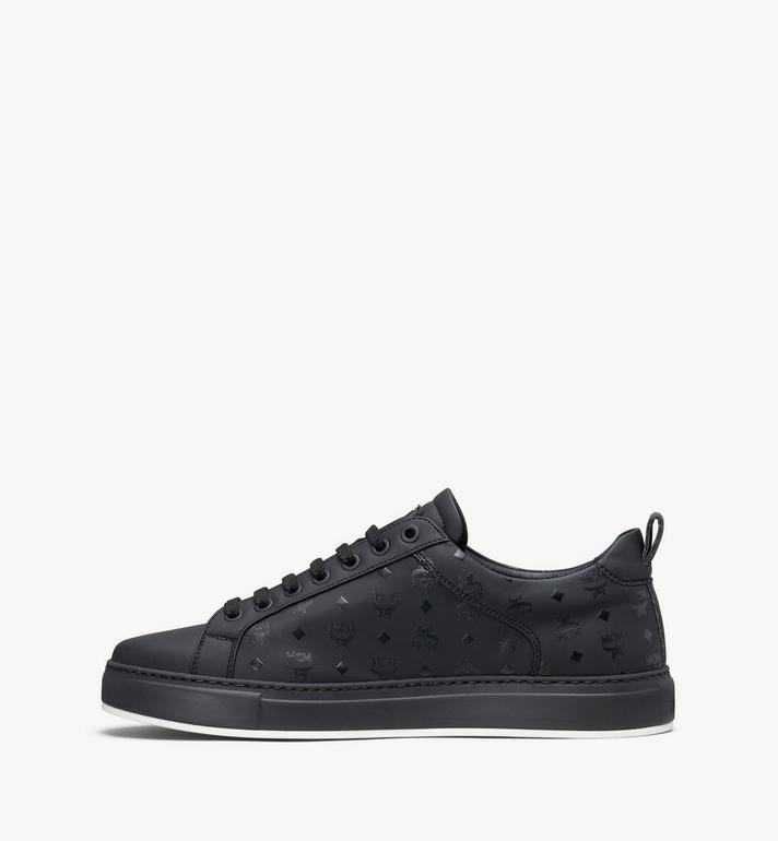 MCM Men's Low-Top Sneakers in Visetos Black MEX9AMM90BK042 Alternate View 4