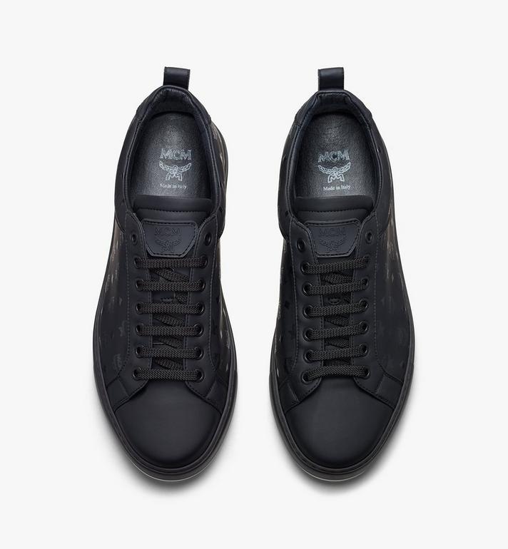MCM Men's Low-Top Sneakers in Visetos Black MEX9AMM90BK042 Alternate View 5